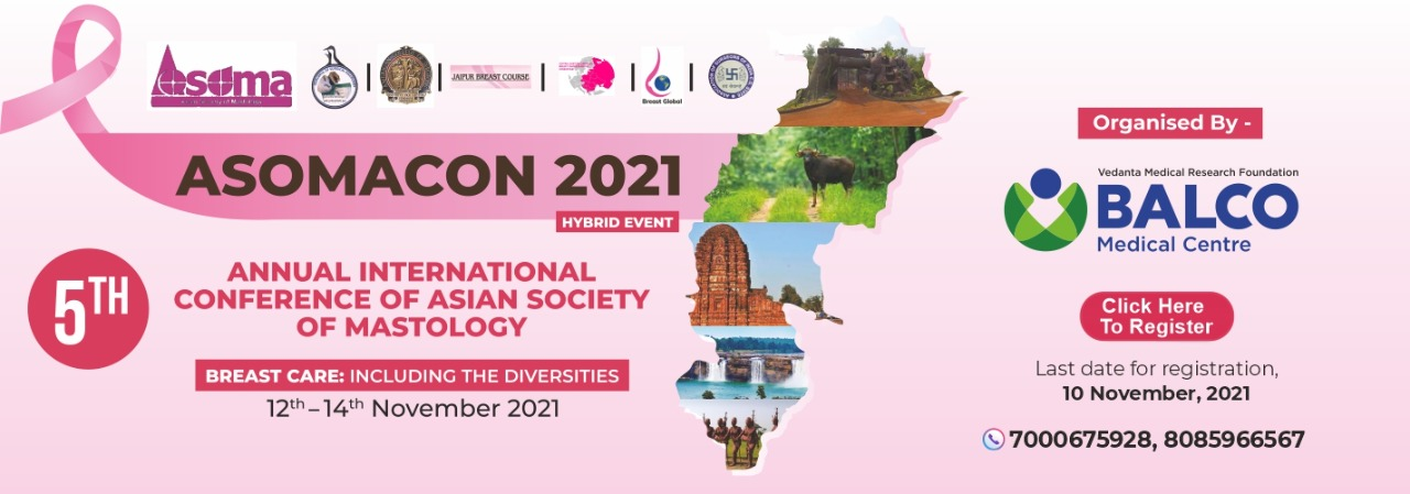 5th International Annual Conference of the Asian Society of Mastology –ASOMACON 2021 data-bgposition=